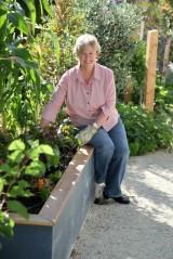 Christine in her garden