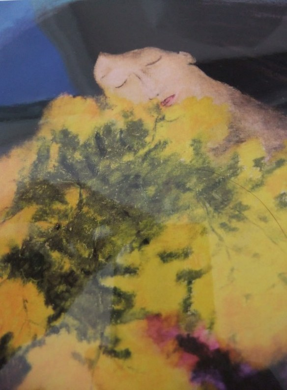 Tasmanian artist, Georgina Richmond captures the bliss of being surrounded by flowering wattle