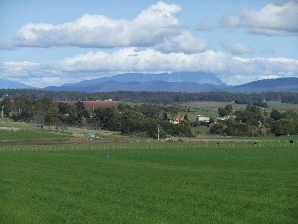 Mt Roland to the south