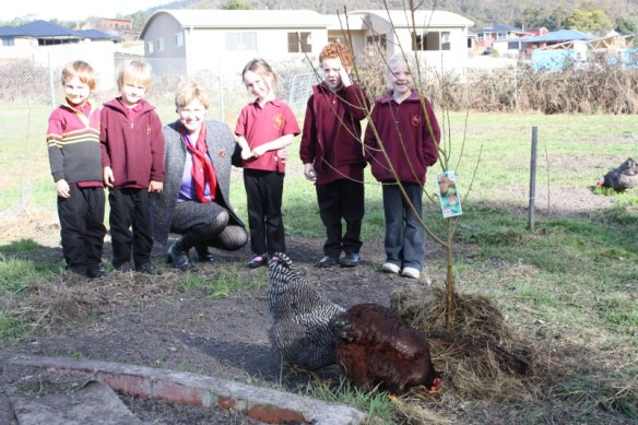 Tree planters ready for action: Toby Barrett, Ben Dolliver, Bree Tabor, Alex Vince, Sarah Reid