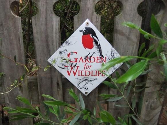 Get involved. Sign up for Gardens for Wildlife