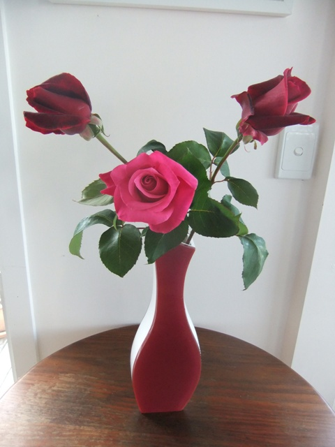 Home grown roses: smaller but no less beautiful