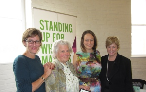Cassy O'Connor MP, Melva Truchanas, Zoe Kean and Christine, all Green women in leadership roles